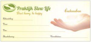 Cadeaubon Praktijk Slow Life